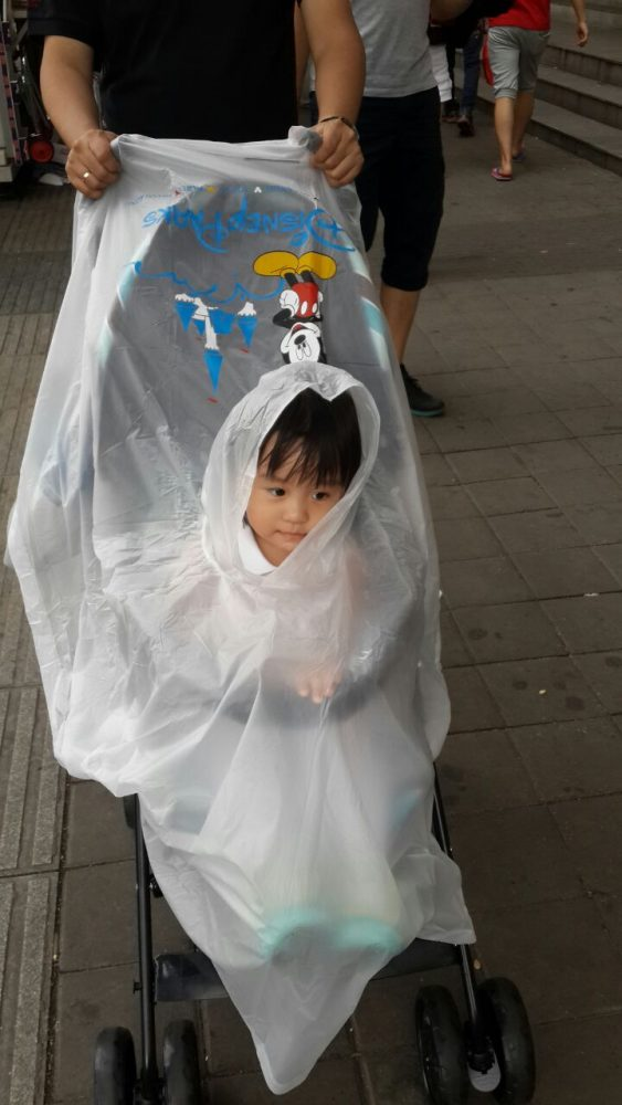Raincoat for Children in Disneyland HongKong