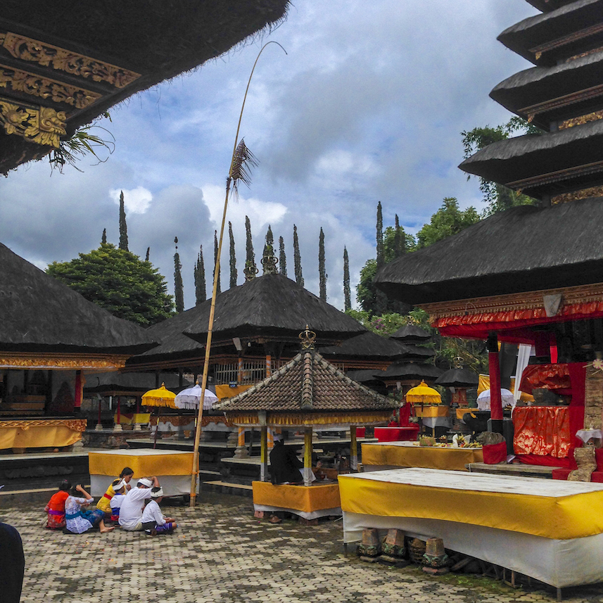 Religious Ceremony in Bedugul Bali