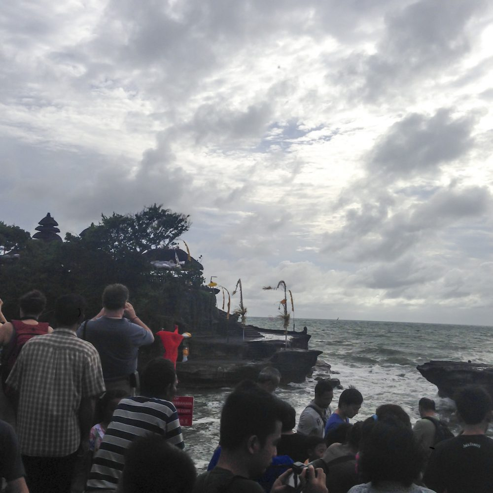 Crowd in Tanah Lot Bali