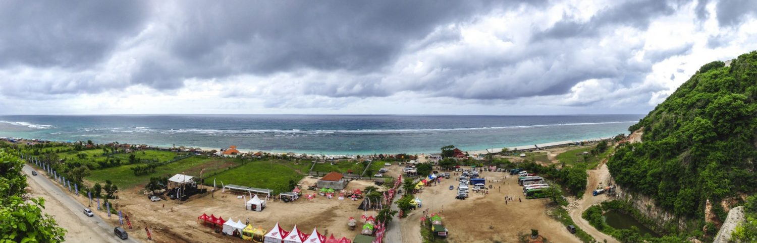 Panorama of Pandawa Beach Bali