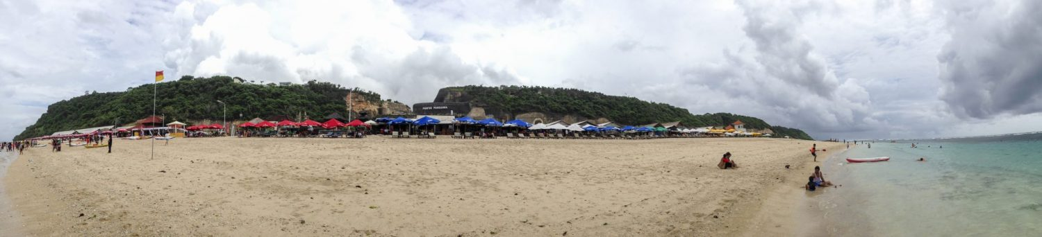 Panorama shot of Pandawa Beach Bali
