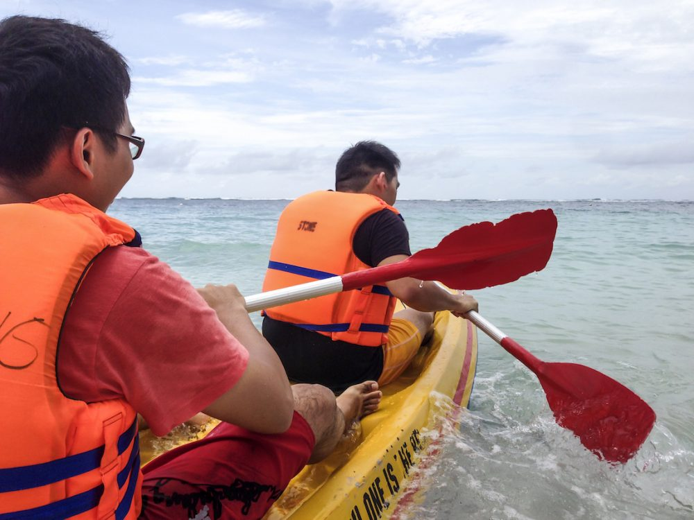 Kayaking at Pandawa Beach Bali