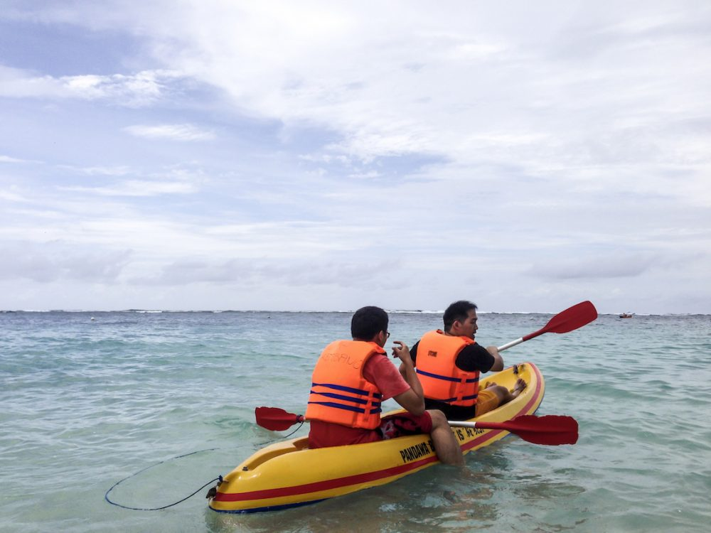 Kayaking at Pandawa Beach