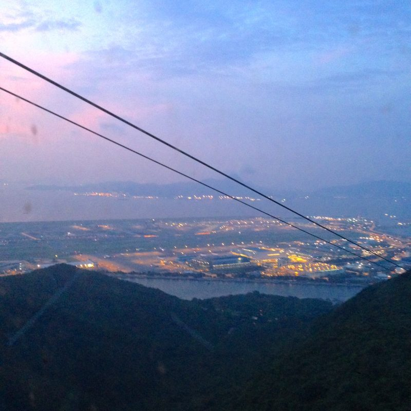 Ngong Ping 360_sunset city view