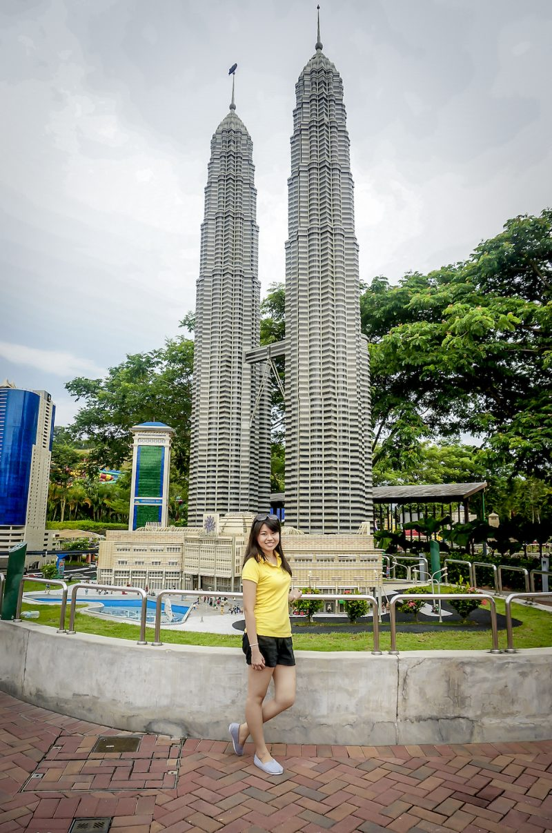 Petronas Twin Tower made of Lego.