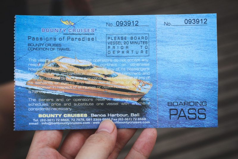 Bali Bounty Cruise Ticket