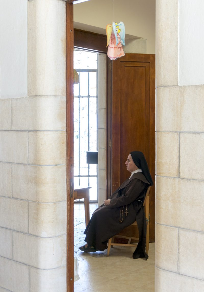 Nun at Church of The Beatitudes