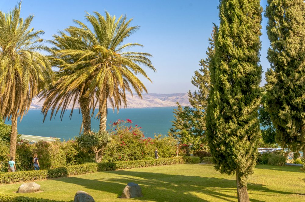 Beautiful view outside The Church of The Beatitudes