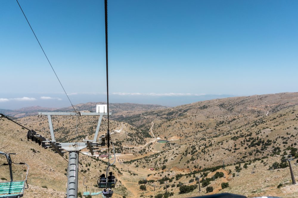 Going back down to lower station Mount Hermon