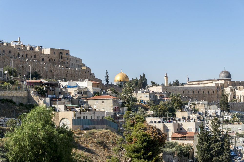 Temple Mount seen from Kidron Valley
