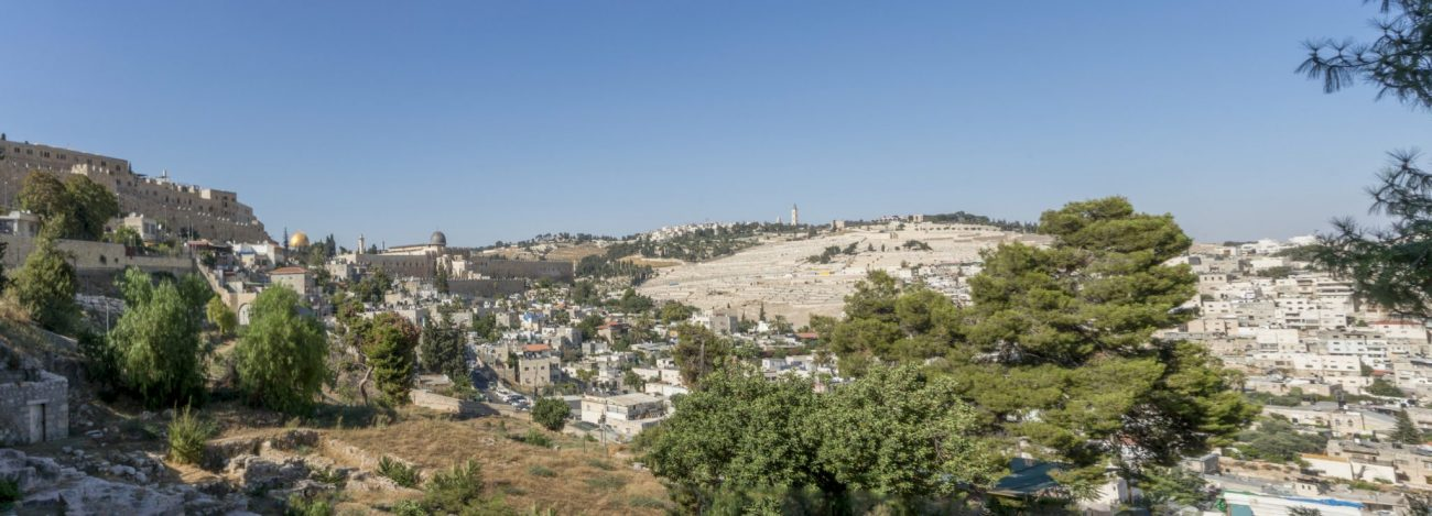 Kidron Valley view from the church