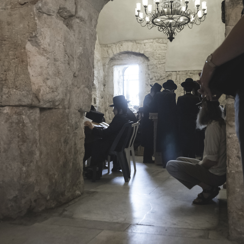 Jews Praying inside King David's Tomb Jerusalem