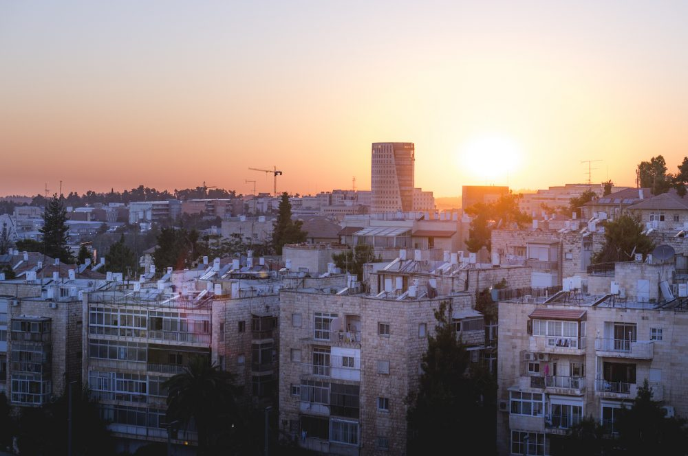 Sunset view from Ramada hotel in Jerusalem