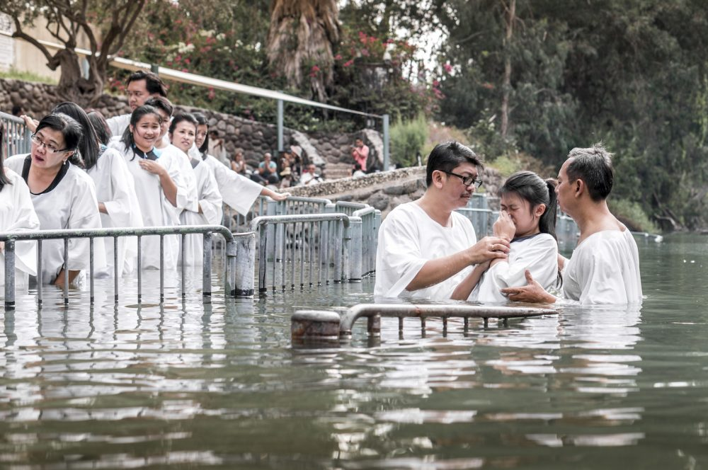 Baptism at Yardenit Jordan River
