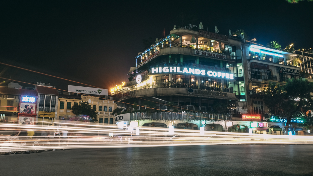 Highlands Coffee Hanoi Long Exposure