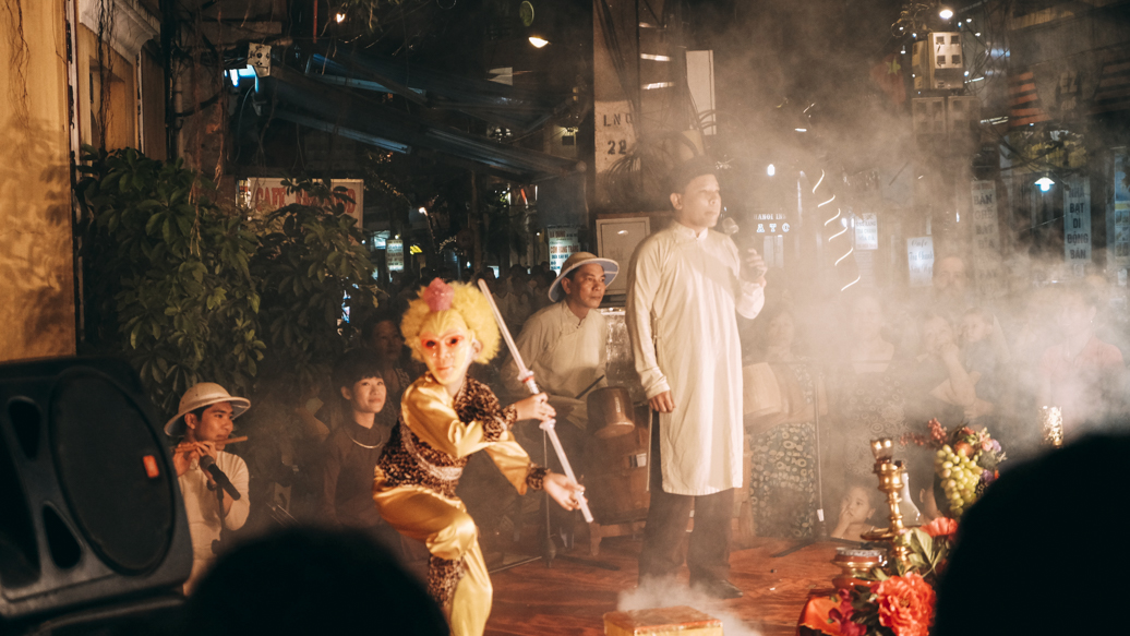 Theatrical Street Performance at Hanoi