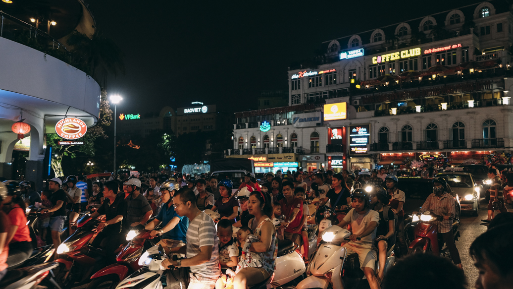 Old Quarter Hanoi during weekend