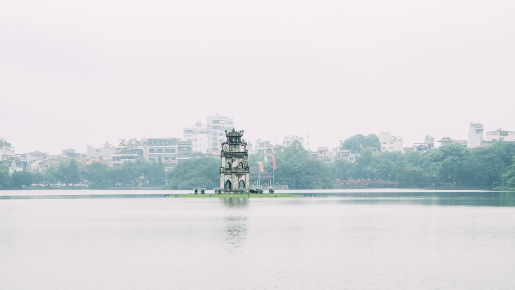 Pagoda at Hoan Kiem Lake