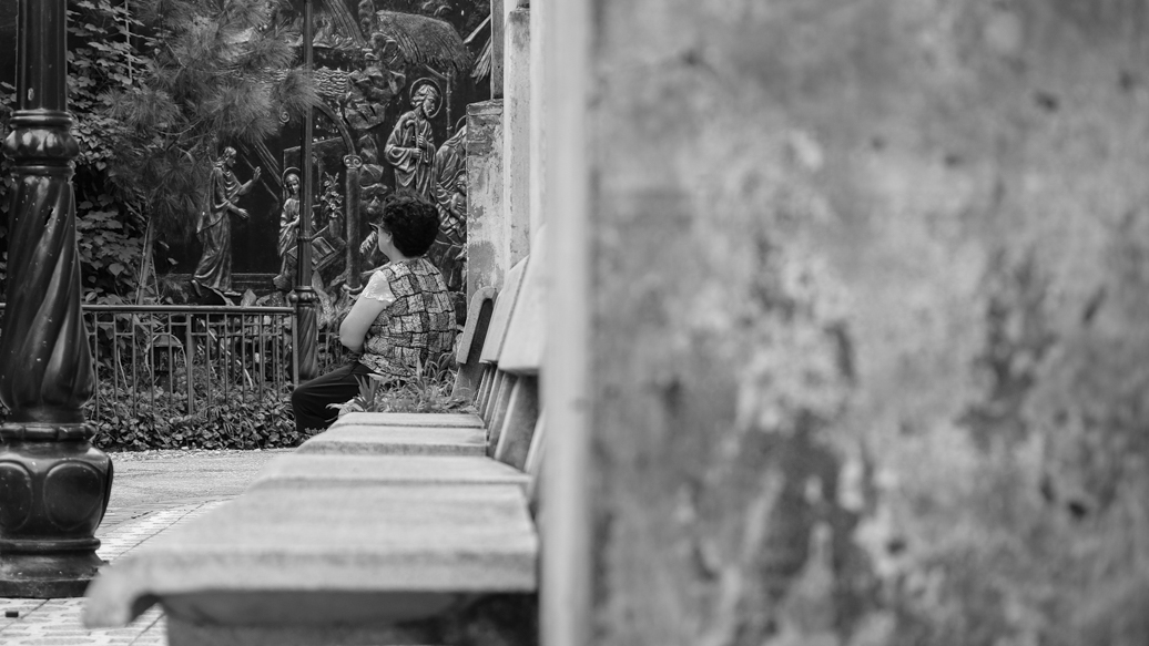 A Lady praying at Saint Joseph Cathedral Hanoi