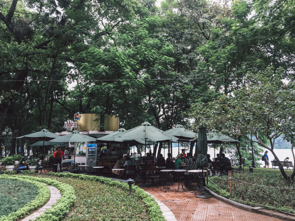 A Cafe at Hoan Kiem Lake