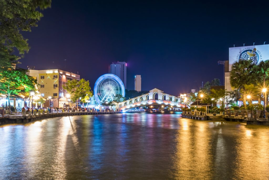 Malacca River at Night